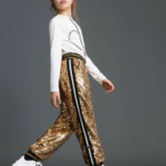 Pantaloni Fete TwinSet cu Paiete