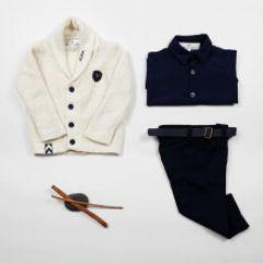 Set Baieti, Cardigan ,Pantaloni si Camasa Beau