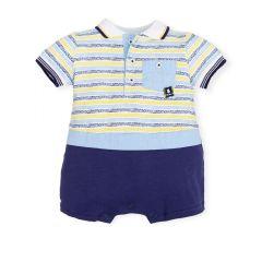 Salopeta Baieti cu T-shirt Polo