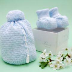 Botosei bleu tricotati