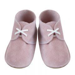 Pantofiori pre-mergatori Clark,din piele roz cu siret