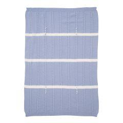Patura albastra din lana