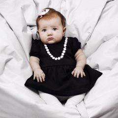 Rochita Tiny Neagra cu Imprimeu Margele