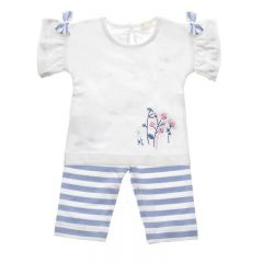 Set T-shirt cu Pantaloni in Dungi