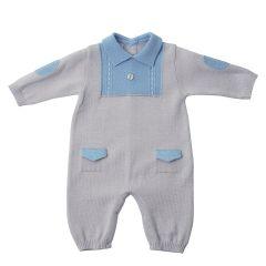 Salopeta tricotata pentru bebelusi