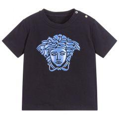 T-shirt Albastru Versace pentru Baieti